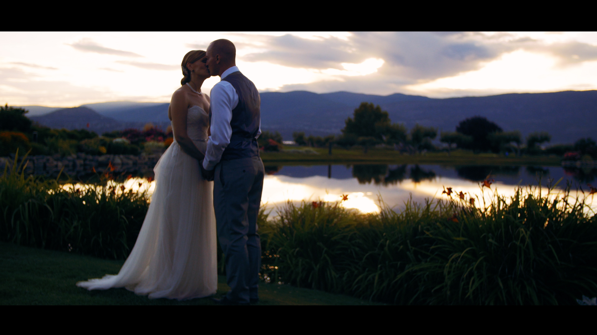 Bride and Groom - Sunset